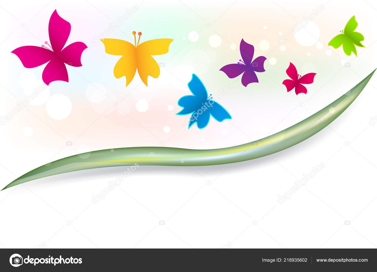 Image Vecteur Pour Modele Couverture Jardin Papillons