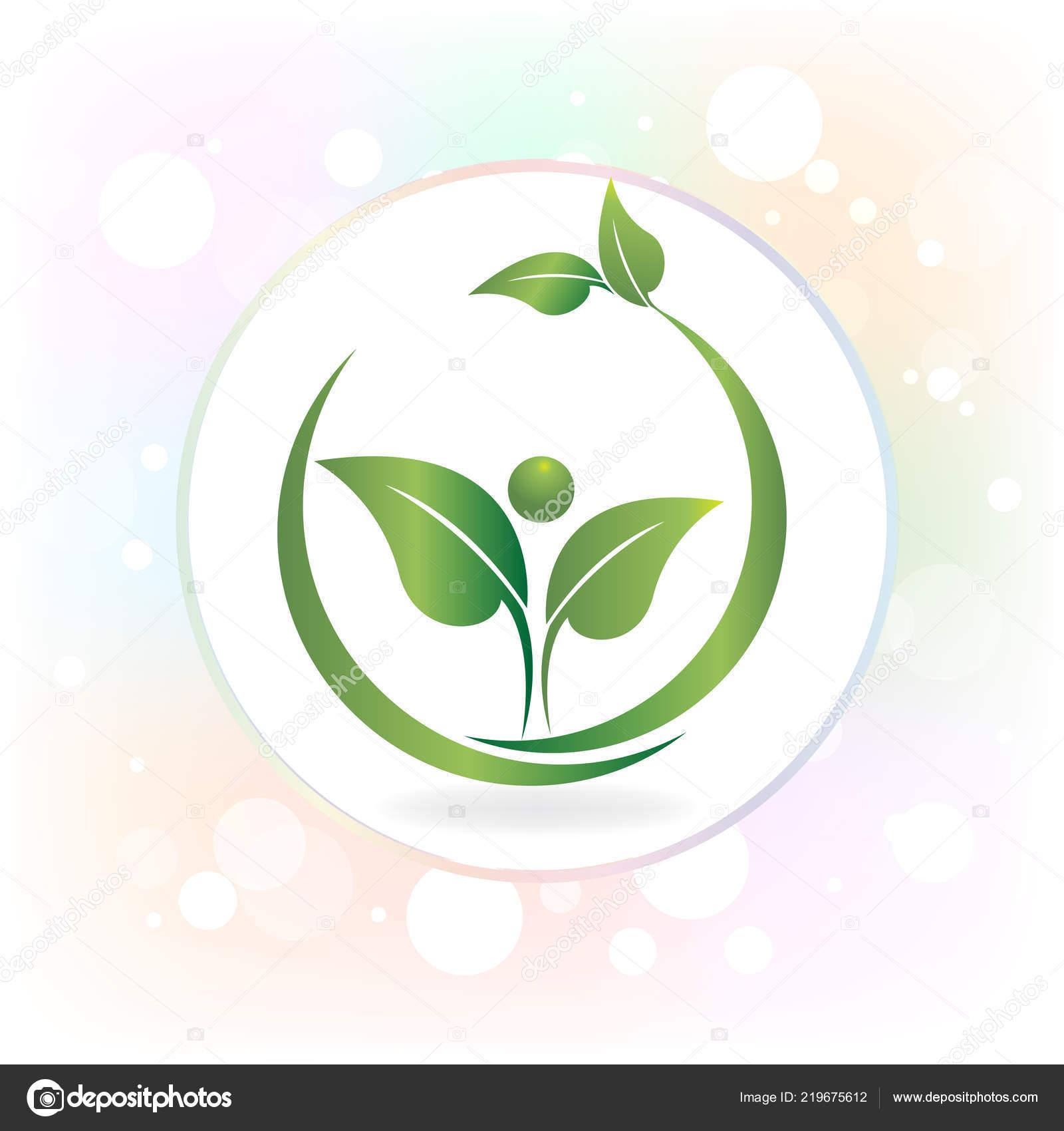 Nature De Sant Logo Marque Gens Feuille Carte Visite Vecteur Par Glopphy