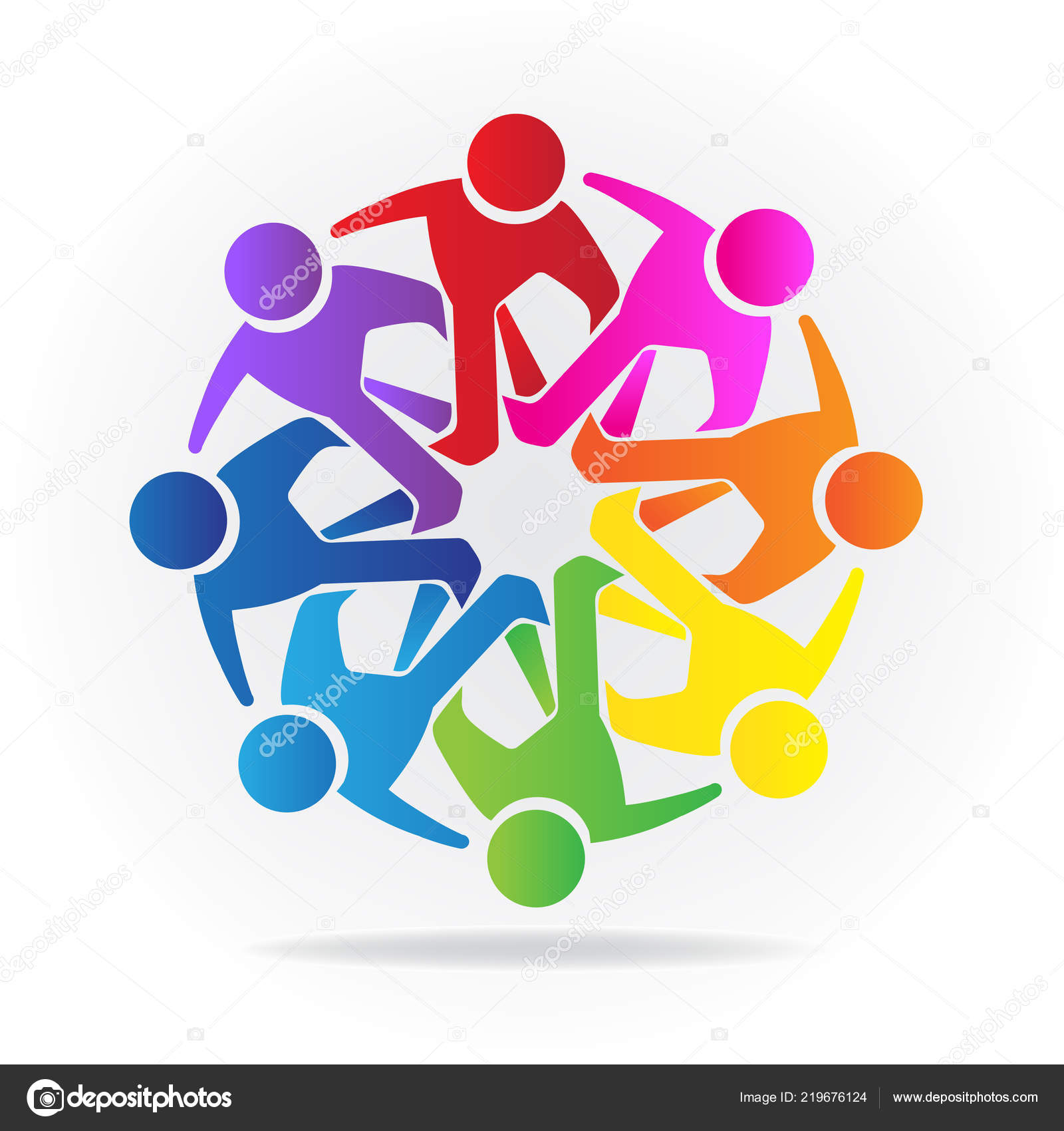 Logo Teamwork Business People Vector Design Template Image Icon