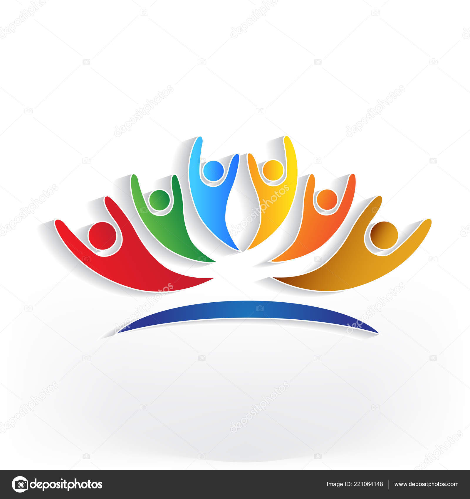 Successful Group People Identity Business Card Icon Logo Stock