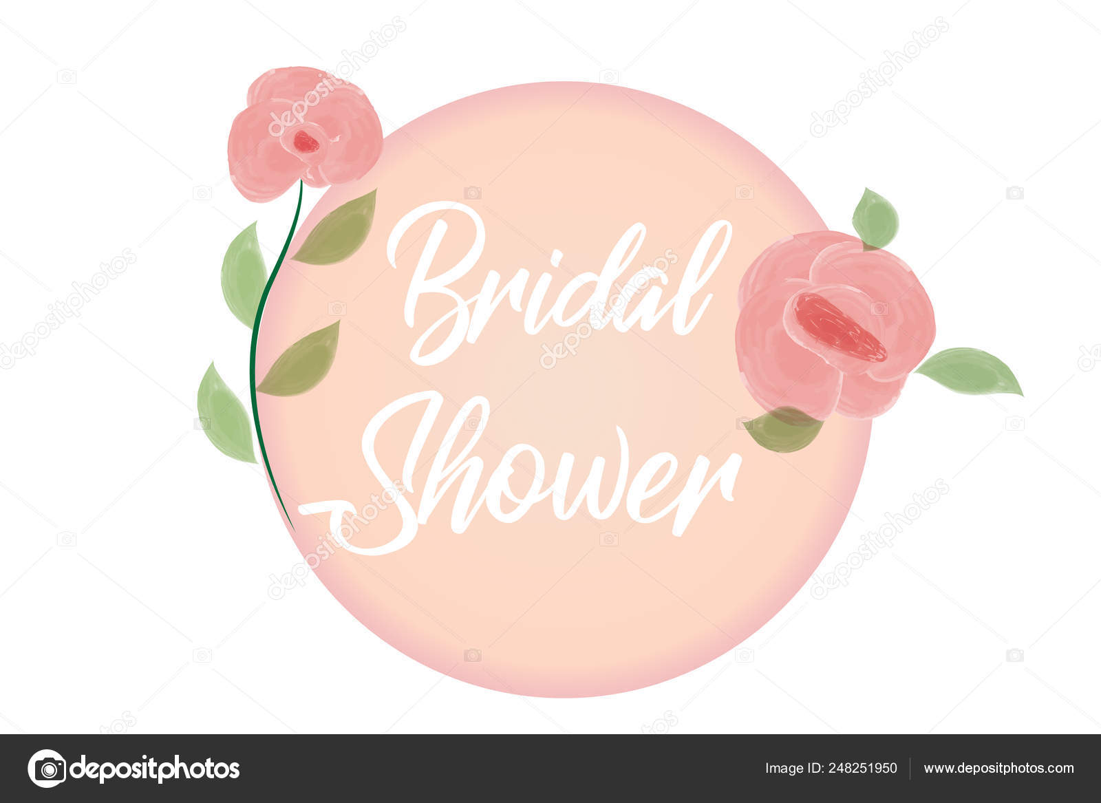 Flower Frame Wedding Invitation Greetings Card Watercolor