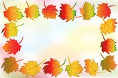 Fotografie Autumn colorful fall leafs greetings card holidays celebrations