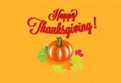 Fotografie Happy Thanksgiving Pumpkin background vector card