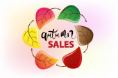 Fotografie Autumn colorful fall leafs colorful season greetings card holidays celebrations welcome fall vector image background web render template