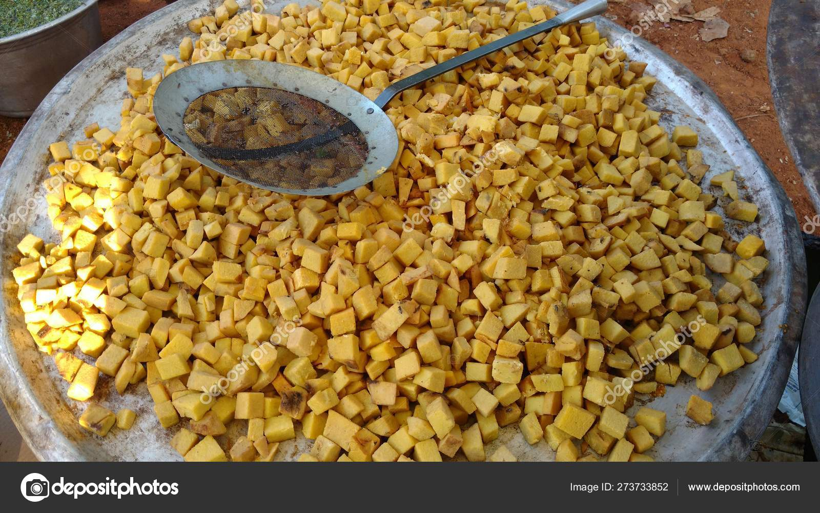 Elephant foot yam pieces to cook a south Indian recipe in a