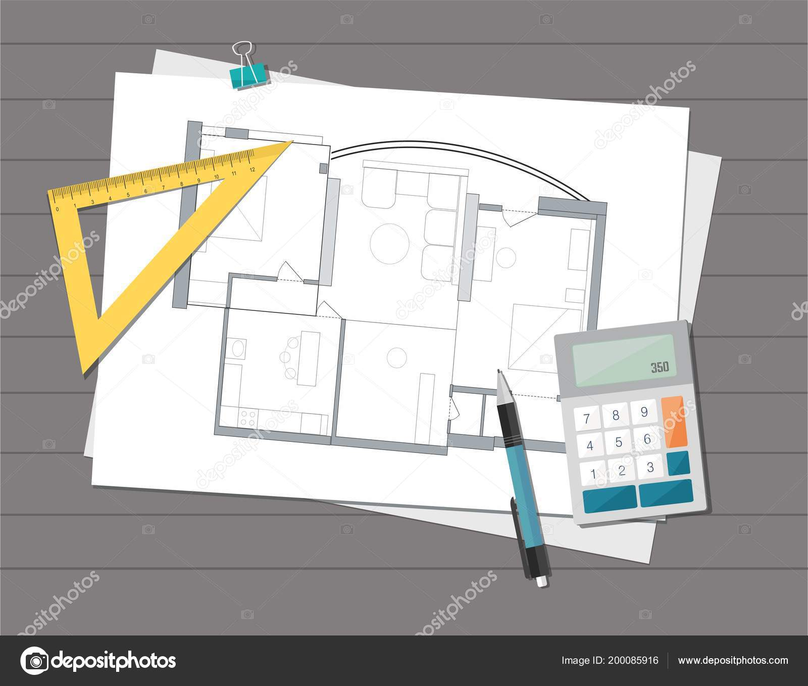 Technical project architect house plan blueprint construction technical project architect house plan blueprint construction background vector de stock malvernweather Image collections