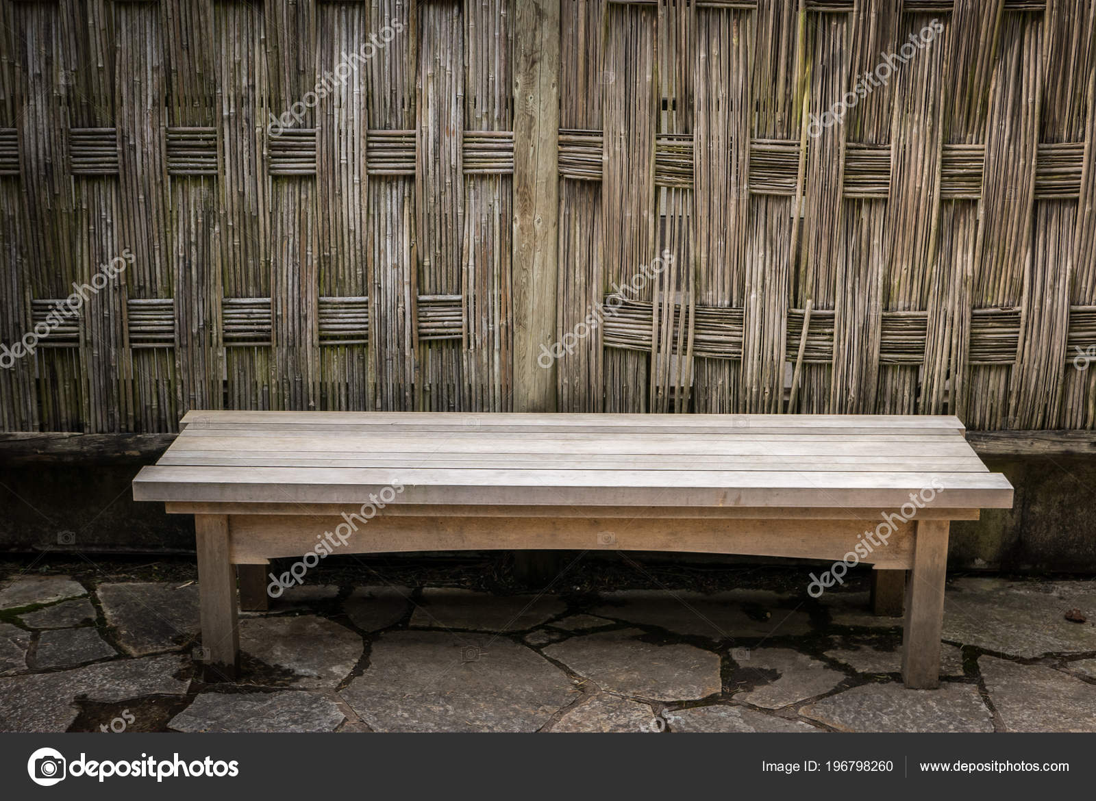 Old Wooden Japanese Style Park Bench Stock Photo C Tom Tnphoto Ca