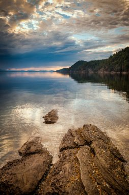 Sunset at Montague Harbour Marine Provincial Park on Galiano Island in the Gulf Islands, British Columbia