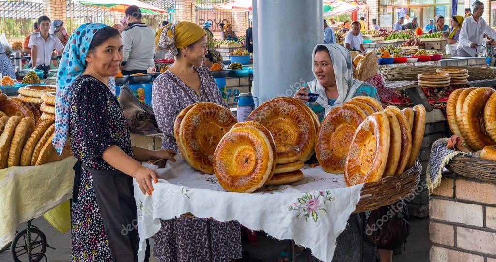 хлеб на базаре в узбекистане фото удлинить рукава