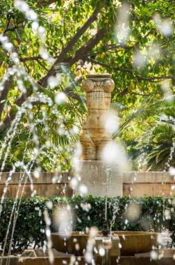 Fountain in the gardens of Almudaina - Palma de Mallorca, Spain