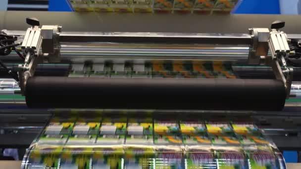 d294dfa72 Máquina Industrial Fábrica Etiquetas Alta Velocidade Máquina Para Etiqueta  Produto– filmagem de stock