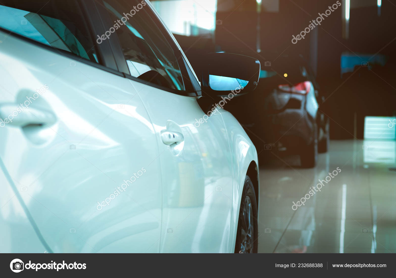 New Luxury Shiny Suv Compact Car Parked Modern Showroom Car Stock Photo C Fahroni 232688388