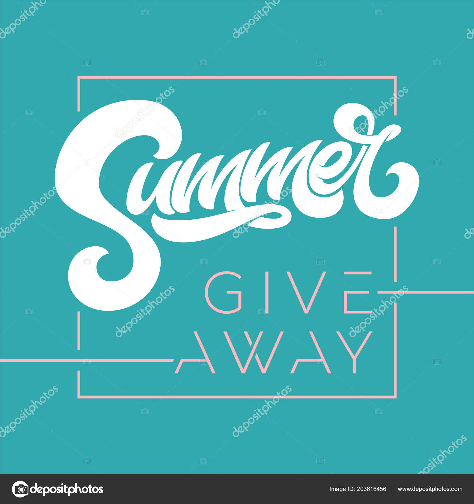 giveaway banner for summer contests in social media vector template