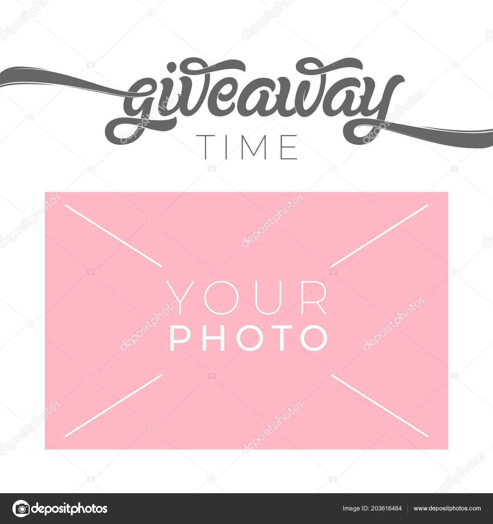 giveaway banner template for social media with place for your photo