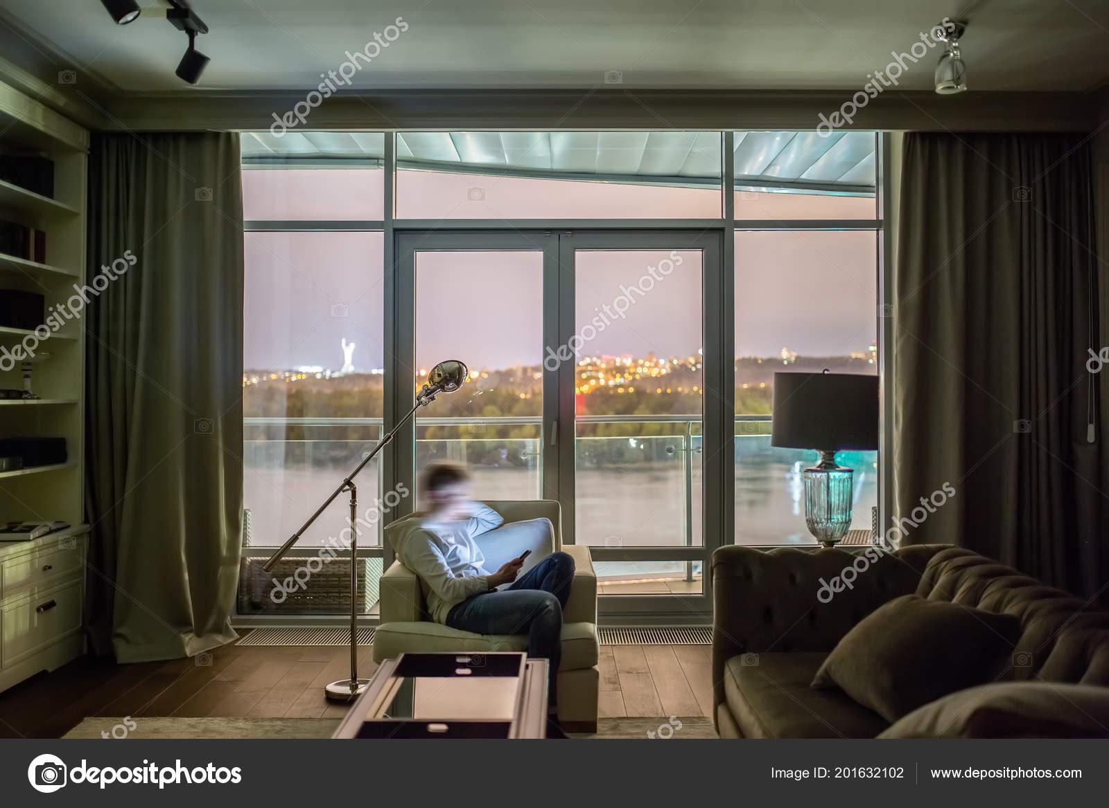Stijlvolle modern interieur u stockfoto bezikus