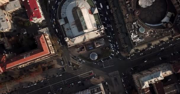 Aerial recording of Kyiv cityscape