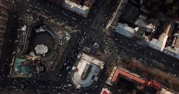 Aerial recording of Kyiv cityscape
