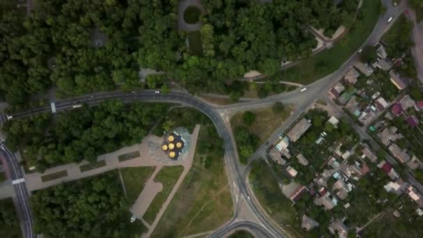 Aerial recording of Chernihiv cityscape