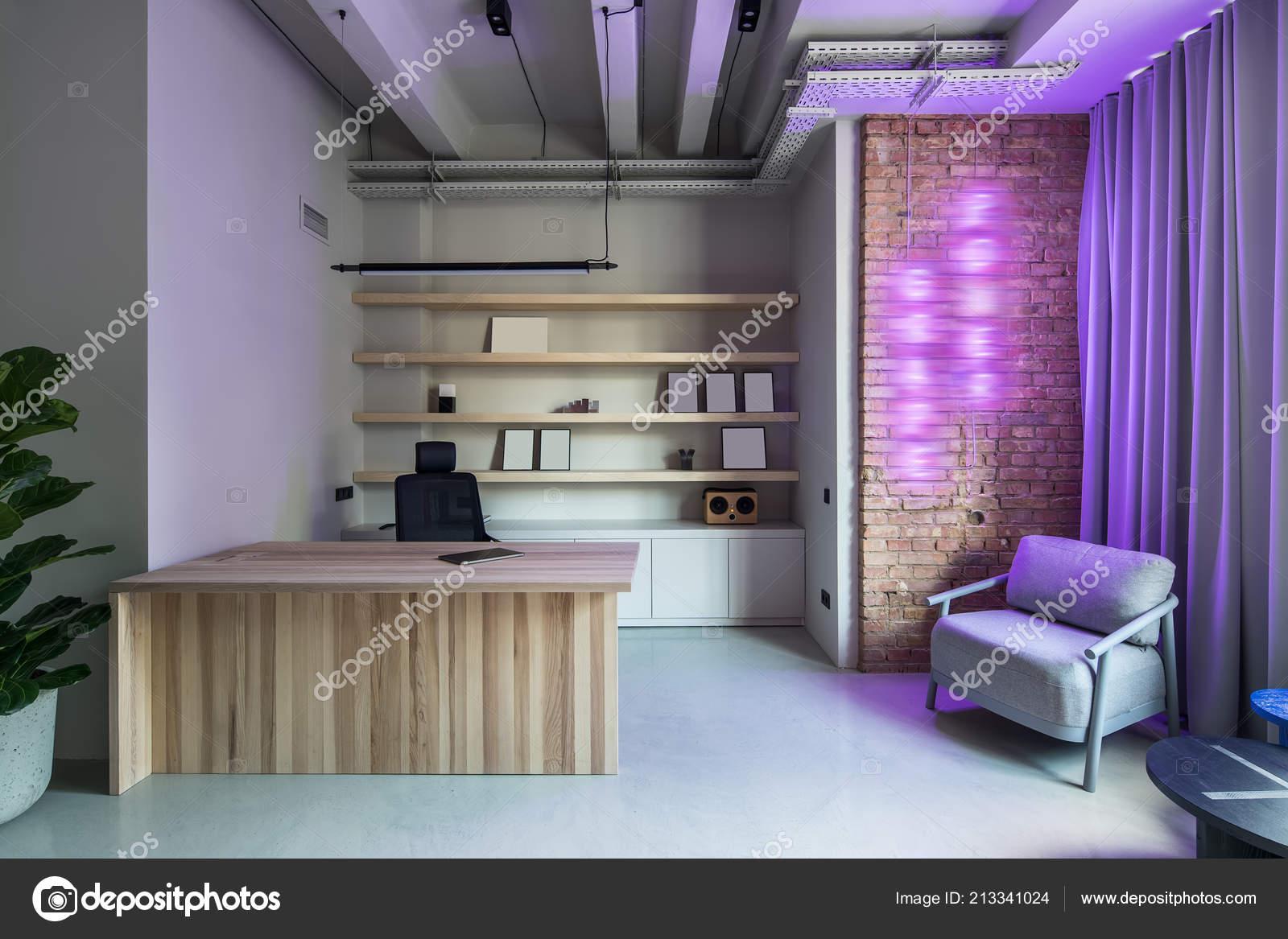 Bureau De Dans Style Un Murs Photographie — Loft Gris Avec qSUzpMV