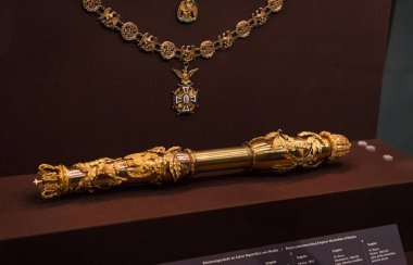 3 SEPTEMBER 2018, VIENNA, AUSTRIA: Treasury of the Habsburg dynasty Museum Hofburg palace in Vienna Austria.