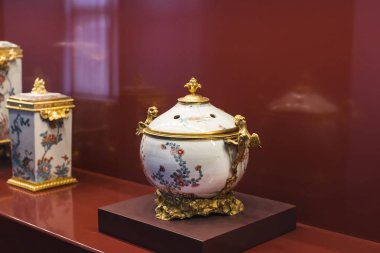 MUNICH, GERMANY - NOVEMBER 27, 2018 : Chinese porcelain collection of the Bavarian kings in the residence of the Bavarian kingdom in Munich.