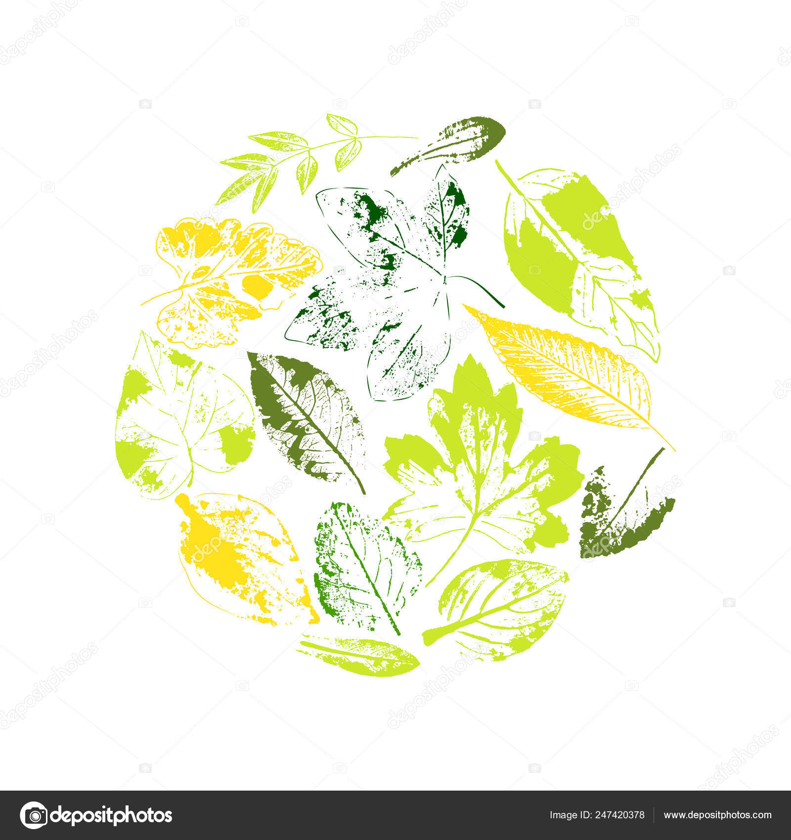 Leaf line icon set  Fertility and growth symbol  — Stock