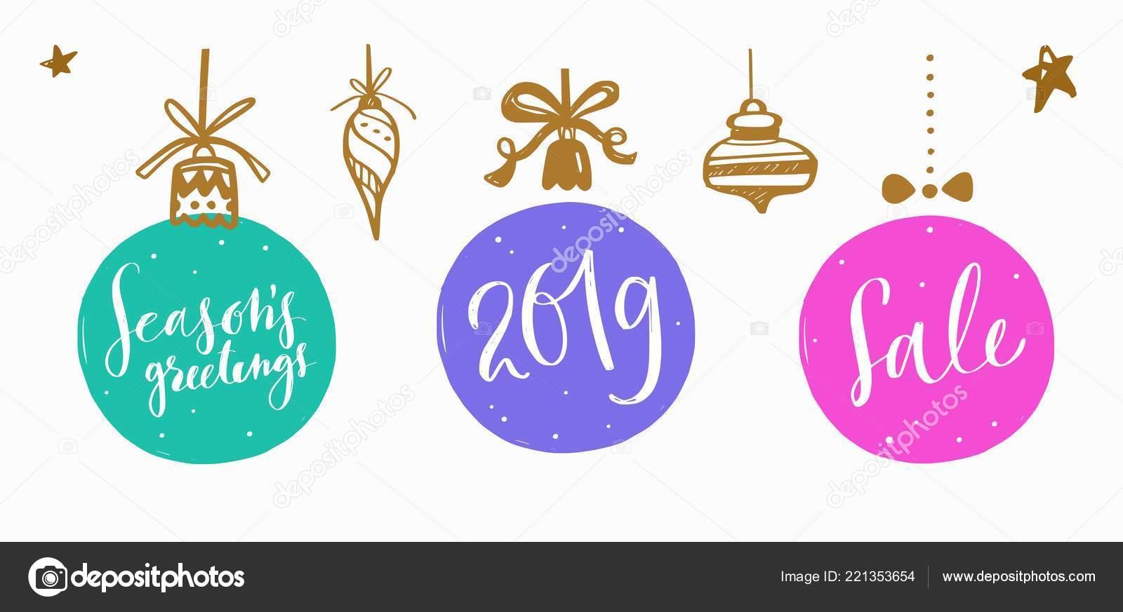 Natal E Ano Novo Lettering E Caligrafia Frases Conjunto 8