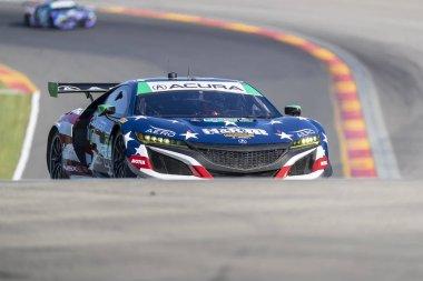 June 30, 2018 - Watkins Glen, New York, USA: The HART Racing Acura NSX GT3 car practice for the Sahlen's Six Hours At The Glen at Watkins Glen International Raceway in Watkins Glen, New York.