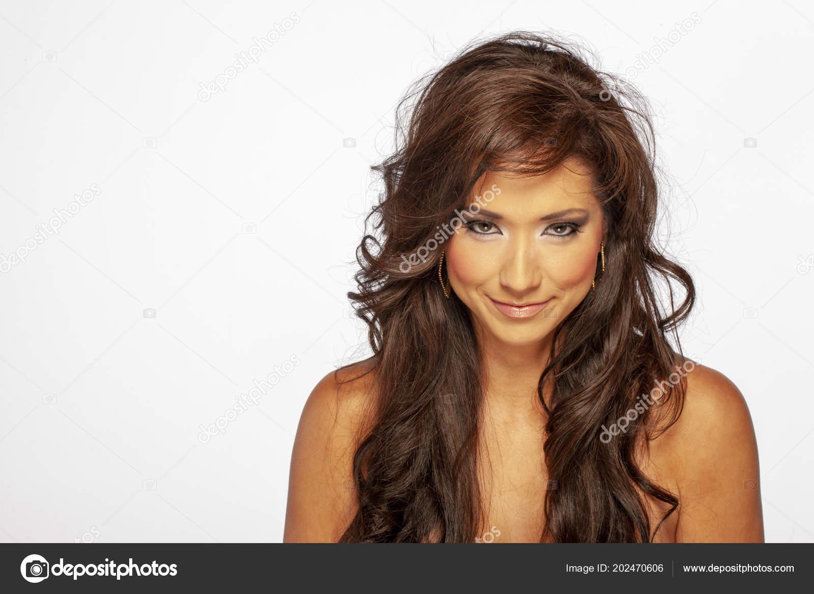 Eine Schöne Korean American Weiblichen Modelle Ihre Frisur