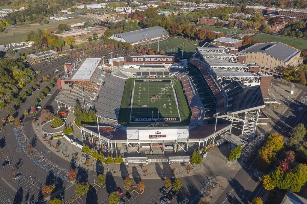 October 14, 2018 - Corvallis, Oregon, USA: Reser Stadium is an outdoor athletic stadium in the northwest United States, on the campus of Oregon State University in Corvallis, Oregon. It is the home of the Oregon State Beavers of the Pac-12 Conference
