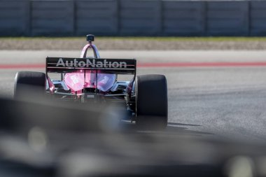 Jack Harvey (60) of England  goes through the turns during practice for the IndyCar Spring Test at Circuit Of The Americas in Austin, Texas.