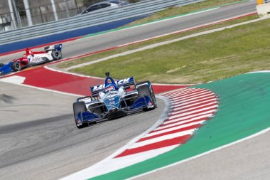 TAKUMA SATO (30) of Japan goes through the turns during practice for the IndyCar Spring Test at Circuit Of The Americas in Austin, Texas.