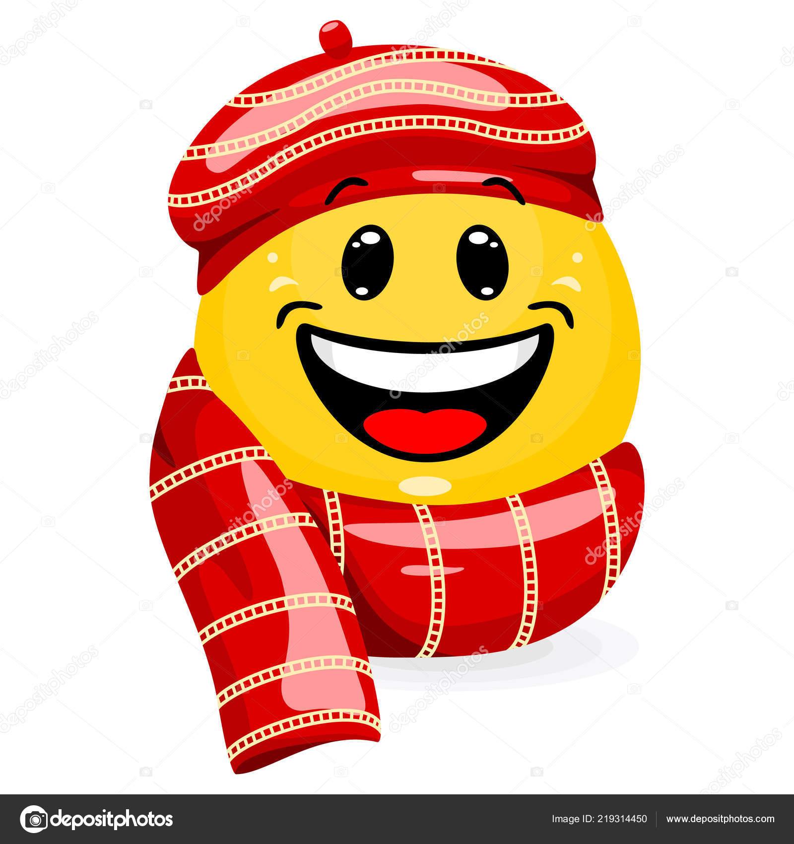 9de2fe9f61a1 Φατσούλα Φοράει Χειμωνιάτικα Ρούχα Χαμογελαστό Πρόσωπο Καπέλο Και Κασκόλ  Στυλ — Διανυσματικό Αρχείο