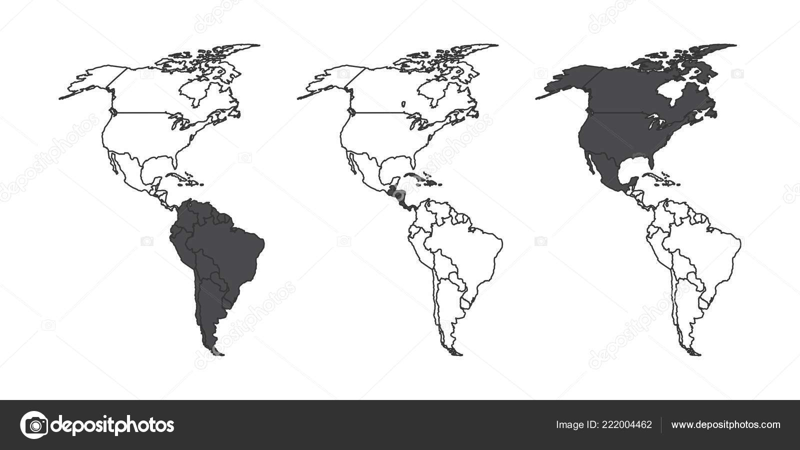 Carte Amerique Du Sud Jeu.Jeu Cartes Continent Americain Avec Sud Central Amerique