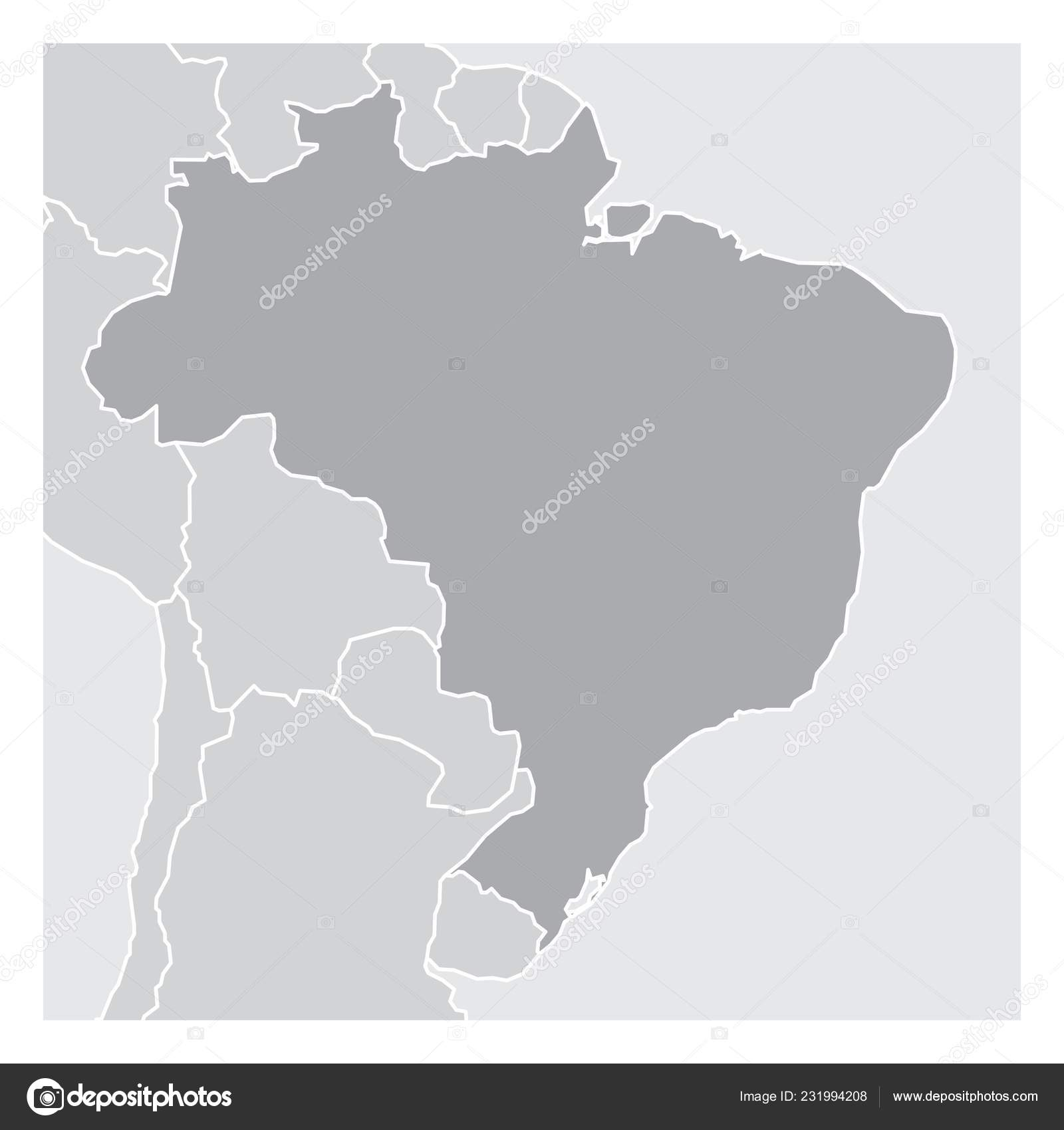 Picture of: Simplified Map Brazil South America Stock Vector C Luisrftc 231994208