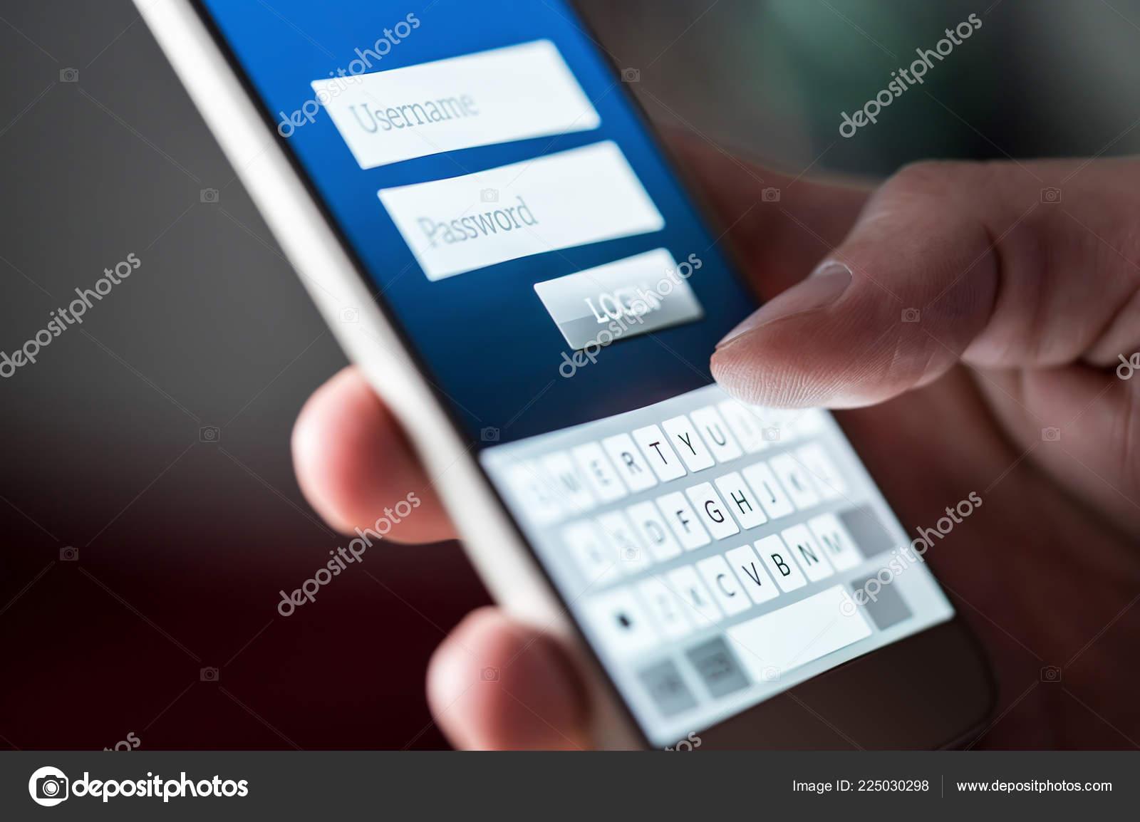 Login Screen App Website Smartphone Username Password Log