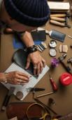 Fényképek Valódi bőr kézműves termelés barkácsszerszámok