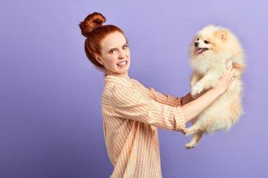 cruel unhappy girl hates pets
