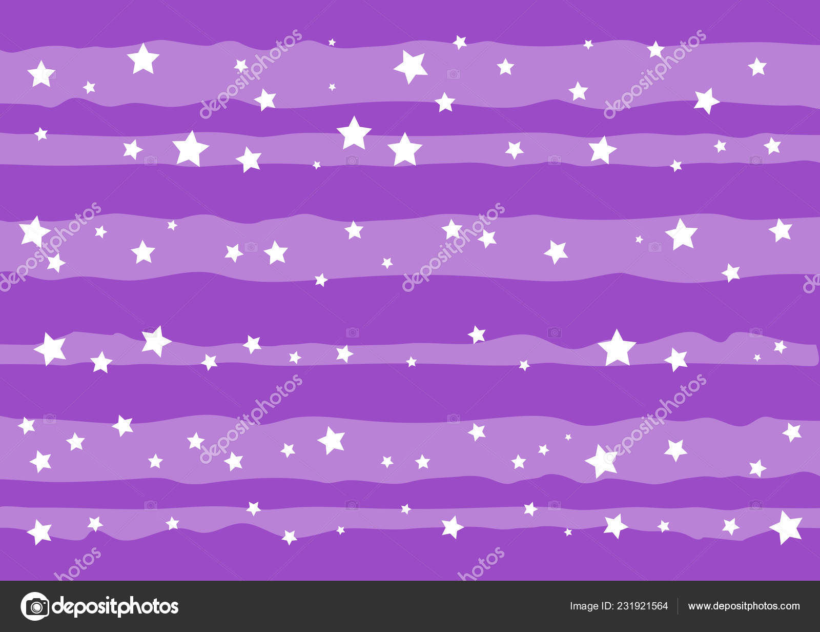 Decorative Purple Background White Stripes Stars Decoration Poster Banner Greeting Stock Vector C Reziziatdin 231921564