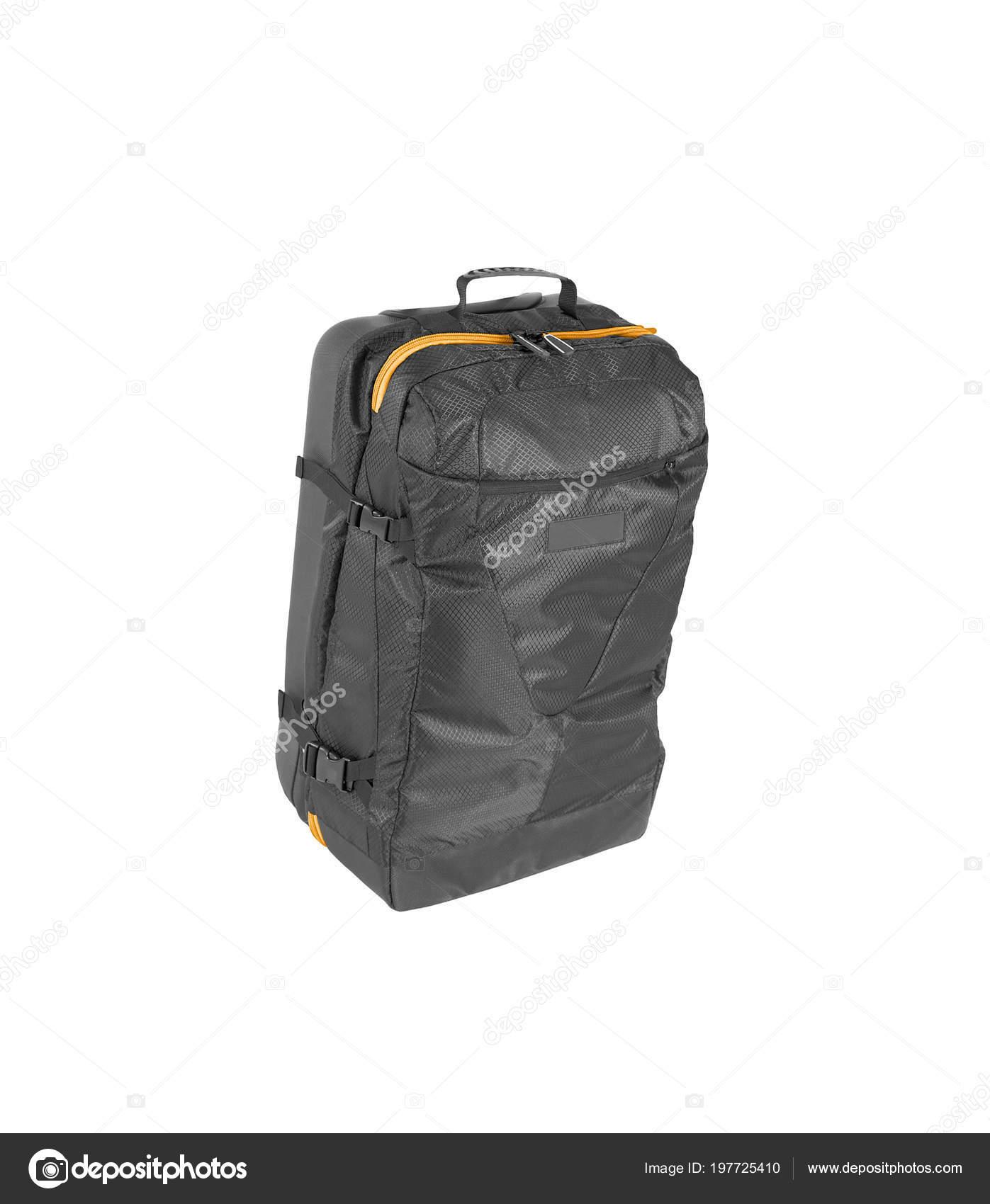 568a60642b00e Schwarzen Gepäck Tasche Isoliert Auf Weißem Hintergrund — Stockfoto ...