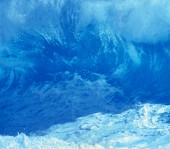 Fotografie Velké vlny oceánu, úžasné mořské pozadí
