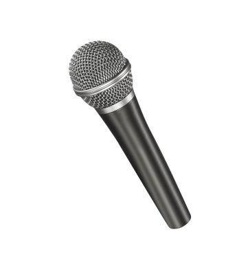 Musical microphone isolated on white