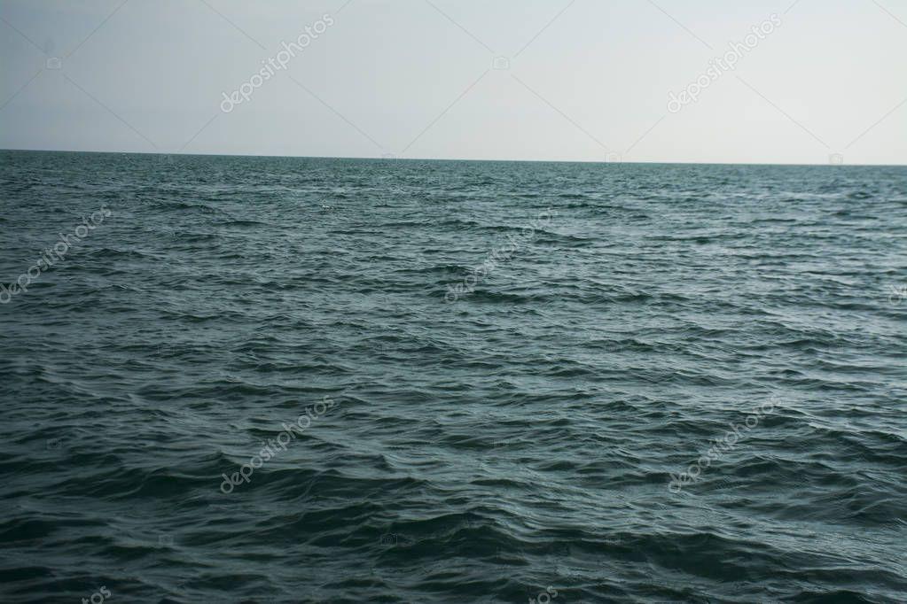 Calm Blue Ocean waves