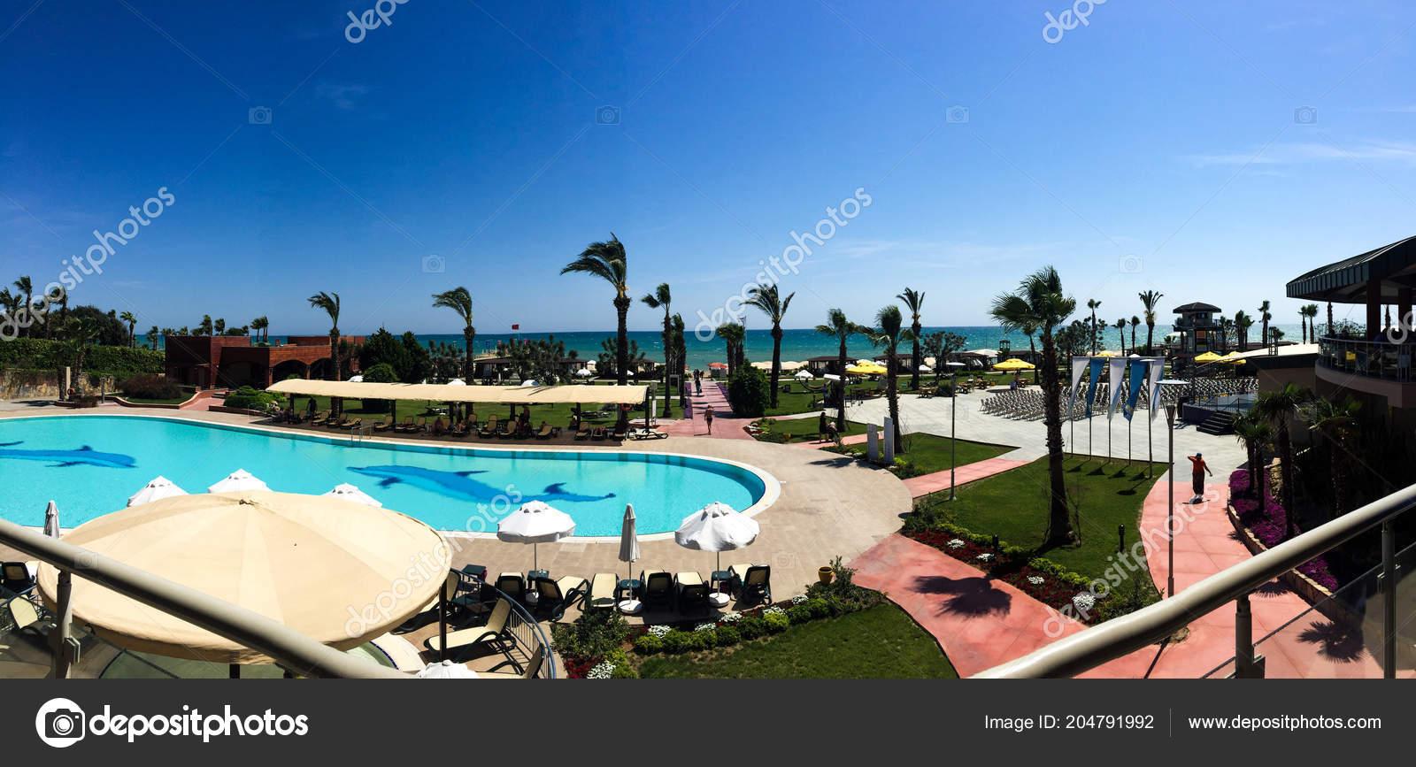 Swimming Pool Umbrellas Beach — Stock Photo © ozaiachinn ...