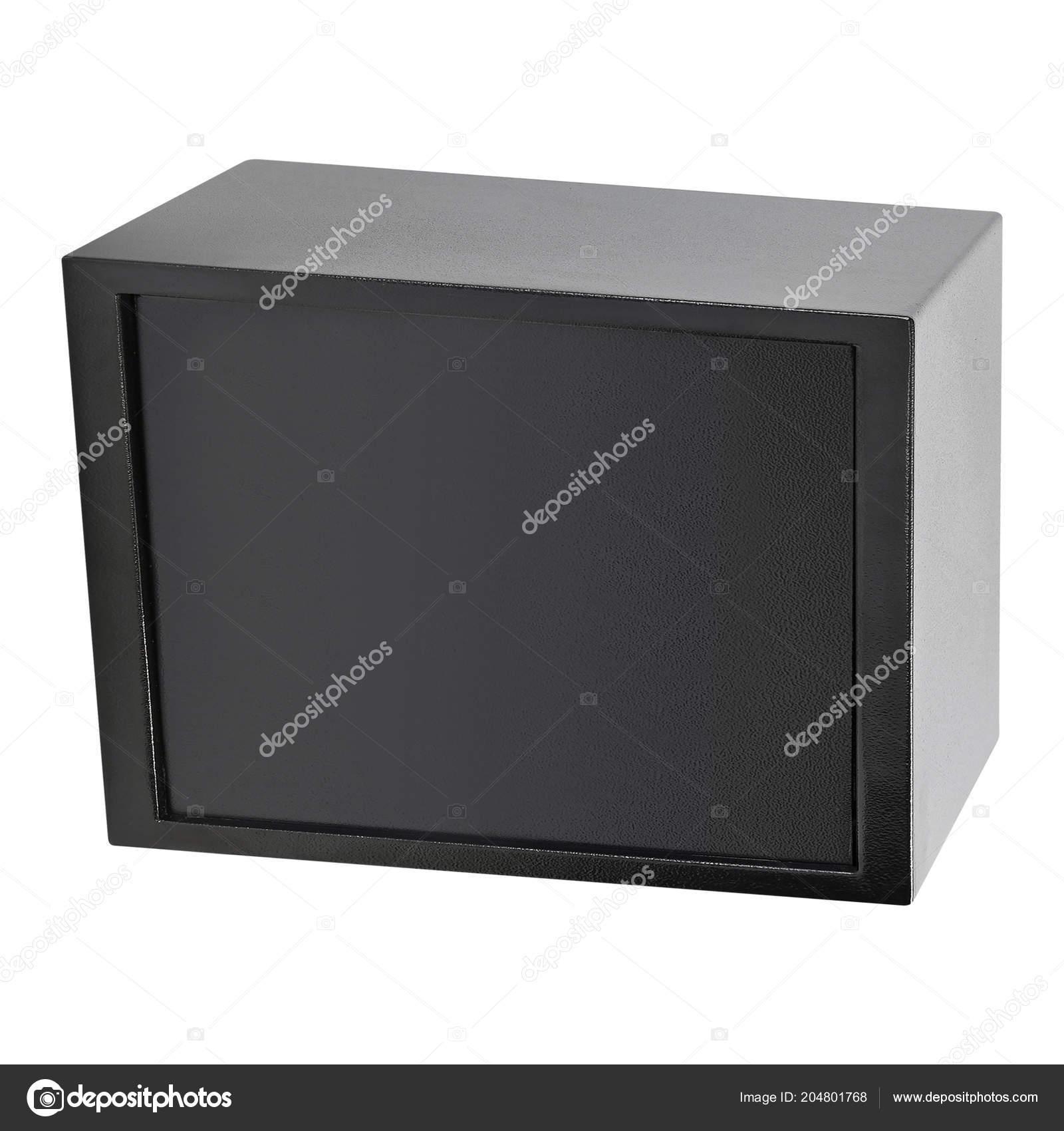 Metallbox Isoliert Auf Weißem Hintergrund Stockfoto