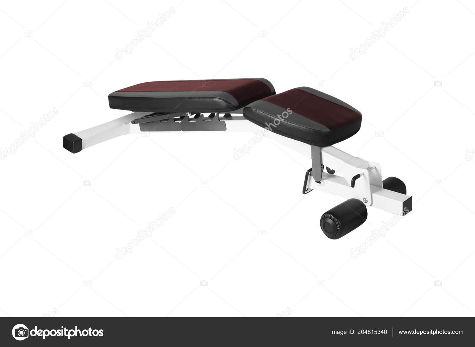 Banc Musculation Exercice Isolé Sur Fond Blanc Photographie