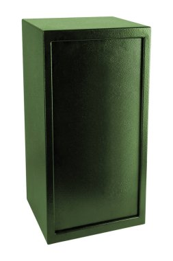 Security metal safe isolated, close up