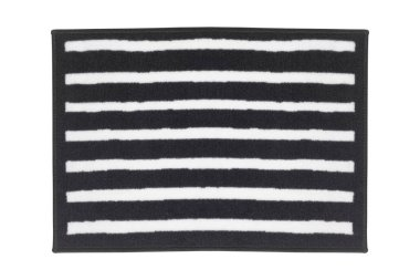 Striped carpet isolated, close up stock vector