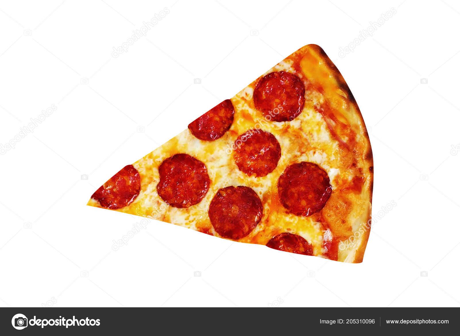 Rebanada Pizza Aislado Blanco