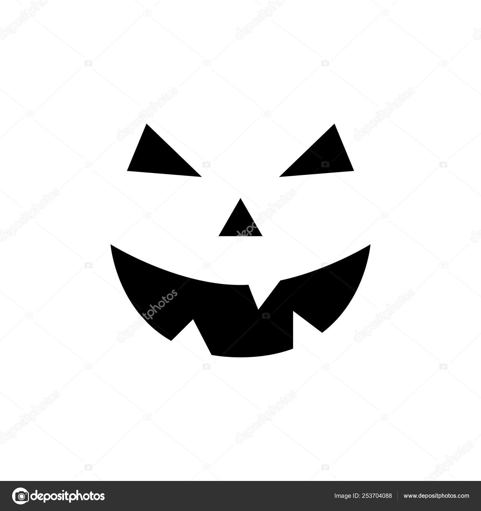 Хэллоуин Тыква лицо. Тыква смайлик, изолированные на белом ...